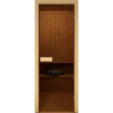 Дверь стекло бронза (коробка хвоя) 189*69