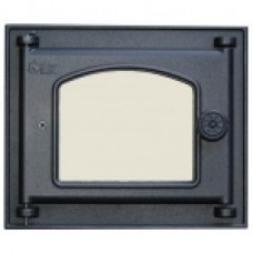 351 LK Дверца топочная со стеклом (250х210)