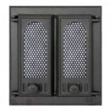 409 SVT каминная дверца со стеклом(двустворчатая)