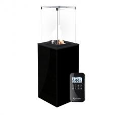 Газовый обогреватель Kratki PATIO/MINI/G30/37MBAR/CZ (уличный) - черное стекло, с пультом ДУ (8,2 кВт)