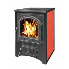 Печь-Камин ВЕЗУВИЙ ПК-01 (205) с плитой, красный