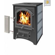 Печь-Камин ВЕЗУВИЙ ПК-01 (205) с плитой и теплообменником, талькохлорит